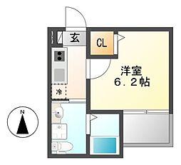 コンフォート仁所町[1階]の間取り