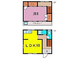[テラスハウス] 愛知県大府市東新町5丁目 の賃貸【/】の間取り