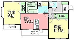 ココナッツ湘南[1階]の間取り