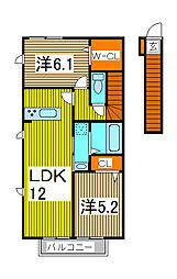 リュバン[2階]の間取り