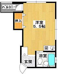 中野マンション[302号室]の間取り