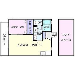 グレース飯倉[2階]の間取り