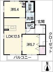 グリ−ンコ−ト明和[2階]の間取り