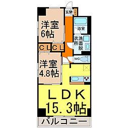 GRANDUKE千代田(グランデューク千代田)[1301号室]の間取り