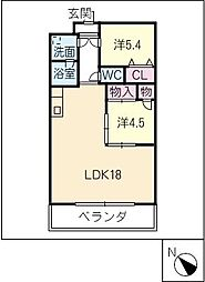 パークサイドNON・NO[4階]の間取り