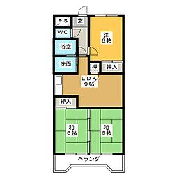 メゾンドタグチII[5階]の間取り