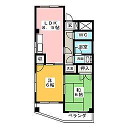 ホワイトコート91[3階]の間取り