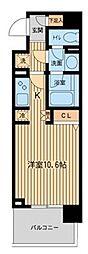 Daffitto横濱台町(旧ベルフェリーク横濱台町)[8階]の間取り