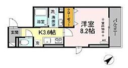 多摩都市モノレール 大塚・帝京大学駅 徒歩5分の賃貸アパート 2階1Kの間取り