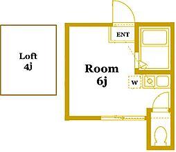 ユナイト衣笠フォルカオの杜[2階]の間取り