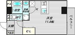 仮称)寺地町東3丁新築賃貸マンション[2階]の間取り