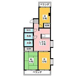 クリーンハウス[5階]の間取り