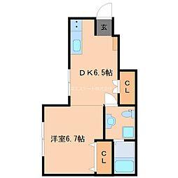 Daito Style TINA 1階1DKの間取り