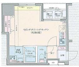 東京メトロ半蔵門線 水天宮前駅 徒歩12分の賃貸マンション 10階ワンルームの間取り