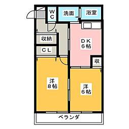 ドミール田町[1階]の間取り