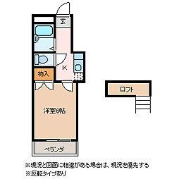 エトワール松本北[2階]の間取り