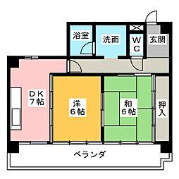 エスポア21[1階]の間取り