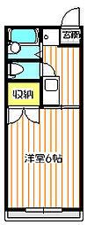 コートヴィレッジII[1階]の間取り