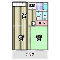 トータスメール[2階]の間取り