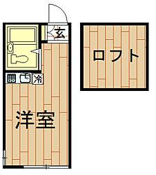 神奈川県川崎市幸区古市場1丁目の賃貸アパートの間取り
