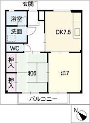 第三河国荘A[2階]の間取り