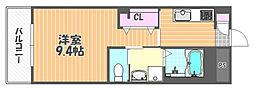 JR宇野線 大元駅 バス14分 浜野西下車 徒歩8分の賃貸マンション 1階1Kの間取り