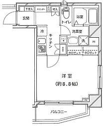 ライジングプレイス上野松が谷[2階]の間取り