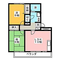 ラフィネ高柳[1階]の間取り