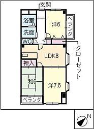 ジョイフル梶田II[5階]の間取り
