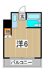 ライフステージ中浦和[3階]の間取り