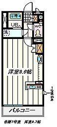 埼玉県さいたま市桜区栄和6丁目の賃貸マンションの間取り