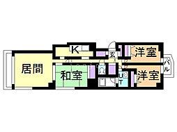 クリスタルパレス'95 3階3LDKの間取り
