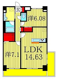 カスターニャ[4階]の間取り