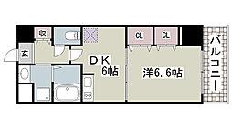 プレジール三ノ宮2[309号室]の間取り