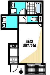 原田通2丁目新築ハイツ(仮) 2階1Kの間取り