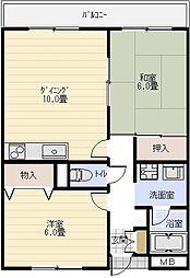 ベルヴェデーレ[3階]の間取り