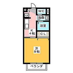 サンノーブルA棟[2階]の間取り