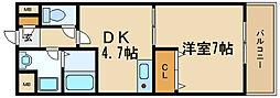 兵庫県伊丹市行基町の賃貸マンションの間取り