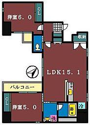 M永岡マンション[403号室]の間取り