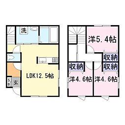 [一戸建] 兵庫県加古川市尾上町今福 の賃貸【/】の間取り