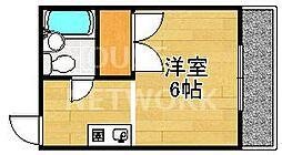 ハイツ村岡[302号室号室]の間取り
