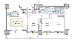クリオ円山鳥居前 6階3LDKの間取り