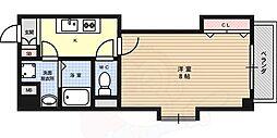 JR東海道・山陽本線 六甲道駅 徒歩5分の賃貸マンション 3階1Kの間取り
