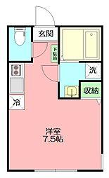 フローラ横浜保土ヶ谷1[102号室]の間取り