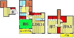 [一戸建] 埼玉県越谷市花田3丁目 の賃貸【/】の間取り