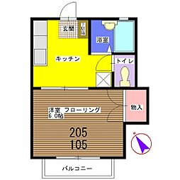 トレス米倉[205号室]の間取り