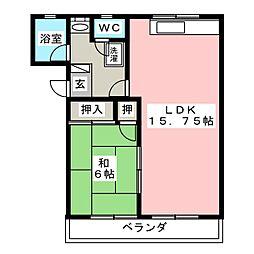 エムヨシダ[2階]の間取り