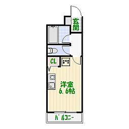 センタービレッジ立石II[0201号室]の間取り