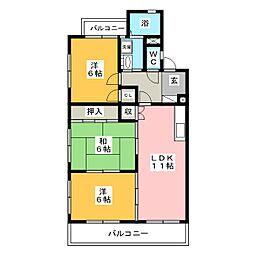 ロワイヤルA(アー)[3階]の間取り