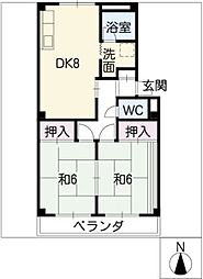 サンハイム2号館[2階]の間取り